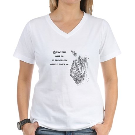 Watching Over Me Women's V-Neck T-Shirt