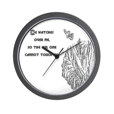 Watching Over Me Wall Clock