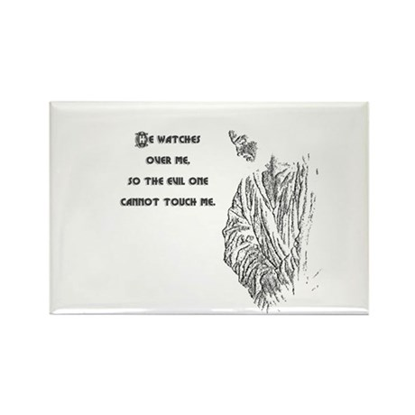 Watching Over Me Rectangle Magnet (100 pack)