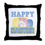 Cute Happy Easter Design Throw Pillow