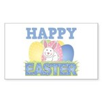 Cute Happy Easter Design Rectangle Sticker 50 pk)