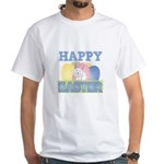 Cute Happy Easter Design White T-Shirt