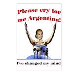 Cry for me Argentina! (I've c Postcards (Package o