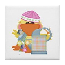 Garden Time Baby Girl Ducky Duck Tile Coaster