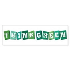 Think Green (block) Bumper Sticker (50 pk)