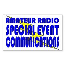 Amateur Radio Special Event C Rectangle Decal