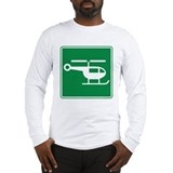 Helicopter Sign Long Sleeve T-Shirt