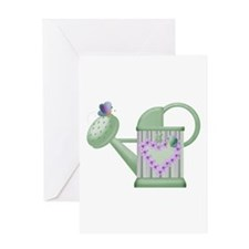 Butteryfly & Watering Can Greeting Card