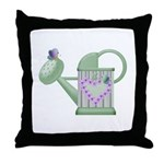 Butteryfly & Watering Can Throw Pillow