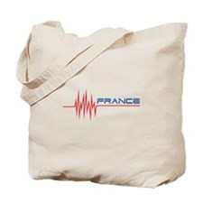 FRENCH HEARTBEAT Tote Bag
