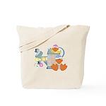 Cute Garden Time Baby Ducks Tote Bag