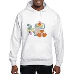 Cute Garden Time Baby Ducks Hooded Sweatshirt