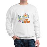 Cute Garden Time Baby Ducks Sweatshirt