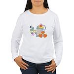 Cute Garden Time Baby Ducks Women's Long Sleeve T-