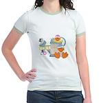 Cute Garden Time Baby Ducks Jr. Ringer T-Shirt