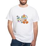 Cute Garden Time Baby Ducks White T-Shirt