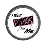 I Wear Pink For ME 8 Wall Clock