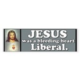 Liberal Jesus Bumper Car Sticker