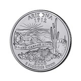 2008 Arizona State Quarter Ornament (Round)