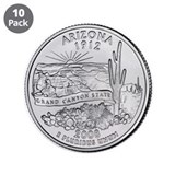 "2008 Arizona State Quarter 3.5"" Button (10 pa"