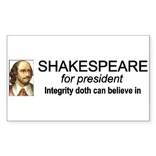 Shakespeare for President Rectangle Sticker 10 pk