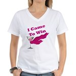 I Came To Win (1) Women's V-Neck T-Shirt