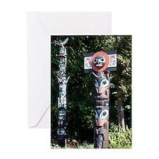 Unique Totem pole Greeting Card