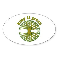 KEEP IT GREEN Oval Sticker