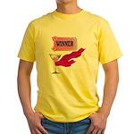 Winner Ticket (1) Yellow T-Shirt
