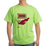 Winner Ticket (1) Green T-Shirt