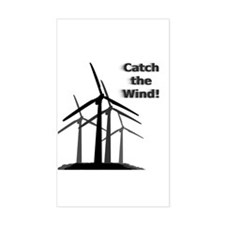 Catch the Wind Rectangle Decal