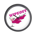 Wipeout Dice Game Wall Clock