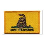 Don't Tread on Me! Rectangle Sticker