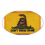 Don't Tread on Me! Oval Sticker