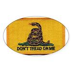 Don't Tread on Me! Oval Sticker (50 pk)