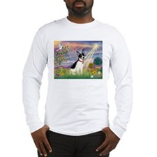 Cloud Angel & Rat Terrier Long Sleeve T-Shirt
