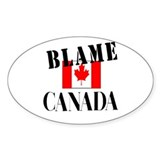 Blame Canada Oval Decal