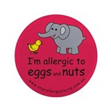"Eggs and nuts-red 3.5"" Button"