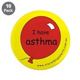 "I have asthma-medical alert 3.5"" Button (10 p"
