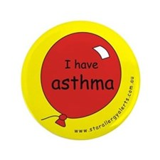 "I have asthma-medical alert 3.5"" Button"