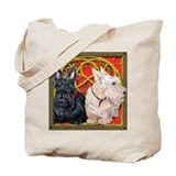 Scottish Terriers Celtic Dogs Tote Bag