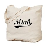 Vintage Miah (Black) Tote Bag