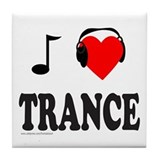 TRANCE MUSIC Tile Coaster