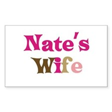Nate's Wife Rectangle Decal