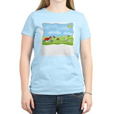"""Down on the Farm"" Women's Pink T-Shirt"