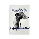 Greyhound Dad1 Rectangle Magnet