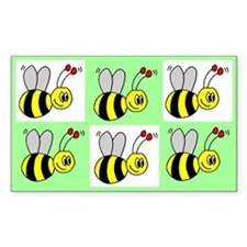 Bumble Bees Rectangle Decal