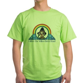 Scarecrow Follow the Yellow Brick Road Green T-Shi | Wonderful Wizard of Oz Clothing | Wizard of Oz T-Shirts