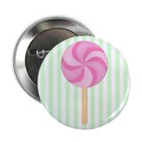 "Pink Lollipop 2.25"" Button"