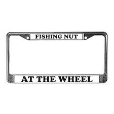 Fishing Nut License Plate Frame